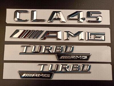 """Matte Black /""""CLA45 AMG TURBO//////AMG/"""" Number Emblem Sticker for Mercedes-Benz"""