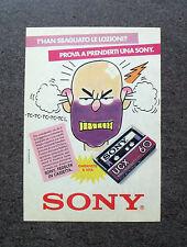 K907-Advertising Pubblicità-1984- SONY CASSETTE AUDIO UCX 60