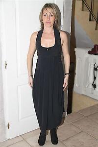luxe-vestido-sexy-ranurada-negro-espalda-abierta-elastica-ALTA-USO-talla-38