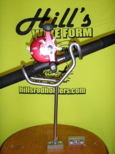 "Fishing Rod Holders uncoated 30 degree 8/"" stems 2-screw bases Reel fisherman 6"