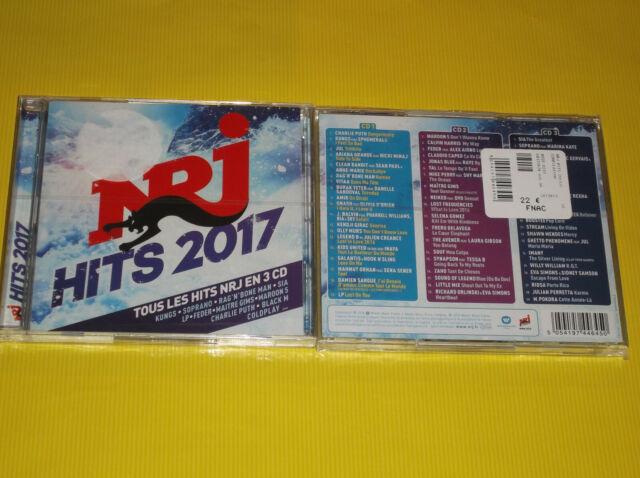 TOUS LES HITS NRJ 2017 EN 3 CD NEUF SOPRANO/MAITRE GIMS/SIA/COLDPLAY/LP/KUNGS