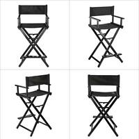 Makeup Artist Director's Chair Aluminum Frame Folding Black Us Dispatch V1r7