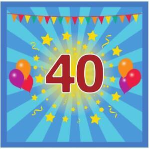 Libro Degli Ospiti Compleanno 40