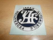 JDM Japanese Car Inspection JAF sticker Japan Automobile Federation Rare JAPAN