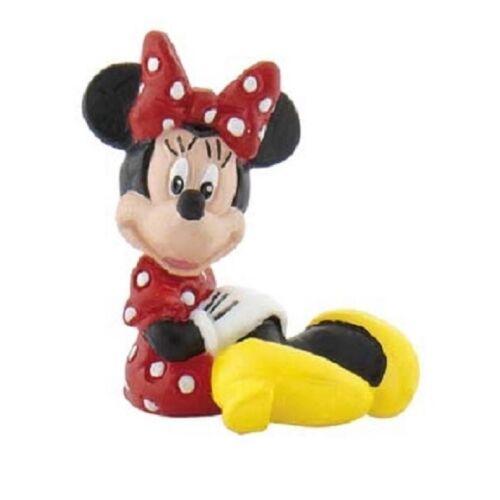 Bullyland 15502 Disney Minnie Mouse Sitzend Spielfigur Sammelfigur Micky NEU NEW