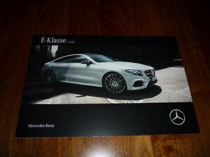 Mercedes Benz E-Klasse Coupe Prospekt 12/2016