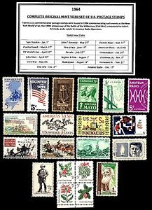1964-COMPLETE-YEAR-SET-OF-MINT-NEVER-HINGED-MNH-VINTAGE-U-S-POSTAGE-STAMPS