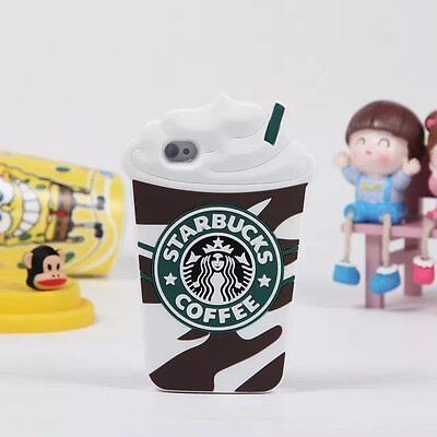 Starbucks 3D Silicone Coffee Cup Phone Case Cover For iPhone 5S/C 6/6+ Samsung