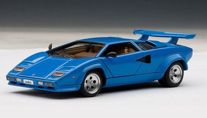 tiempo libre Autoart 54534 1 43 Lamborghini Countach 5000S Azul modelo coches coches coches  diseño único
