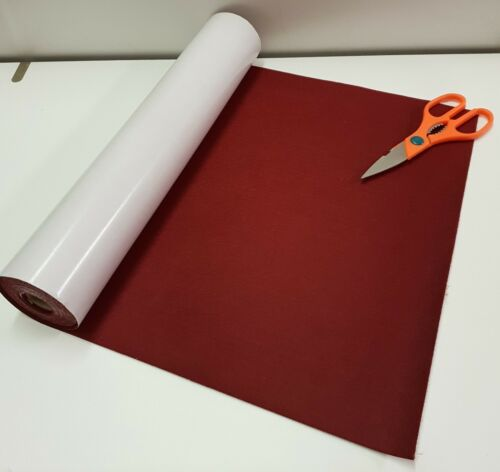 BAIZE 1//2 Metre x 450mm wide roll of WINE RED STICKY BACK  SELF ADHESIVE FELT