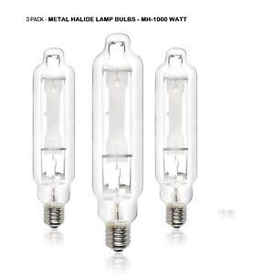 1000 Watt Metal Halide MH Grow Light Lamp Bulb 3 Pack
