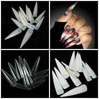 Stiletto Half Cover Competition Long Nail Tips You Choose