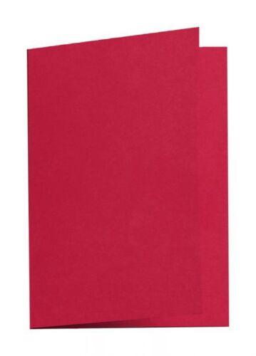 5 Blatt 210g Klappkarte Kirsch Rot A6 Karten Doppelkarten Grußkarten basteln