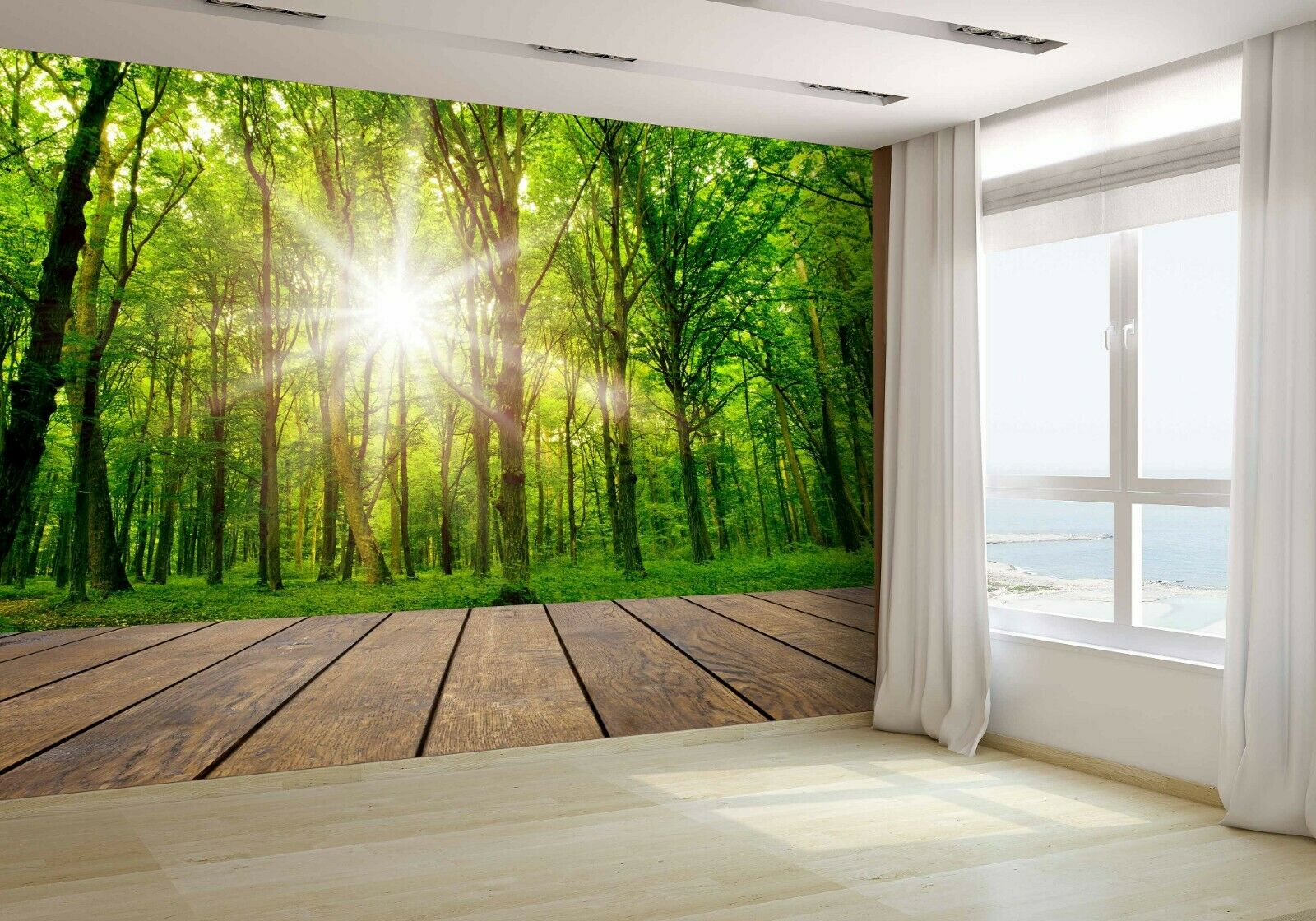 Wood Forest Wallpaper Mural Photo 15828574 budget paper