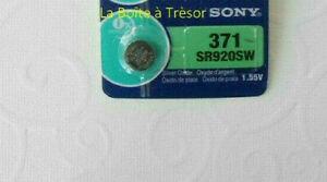 1.55V Neuf 3 Piles SONY 371 SR920SW