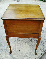 PERIOD WALNUT WORKBOX with FITTED DRAWER