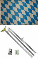 3x5 Bavaria Bavarian Plain Flag Aluminum Pole Kit Set 3'x5'
