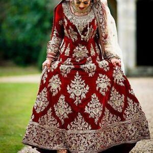 75c1c74dcd Image is loading Crystal-Bollywood-Indian-Pakistani-Ethnic -Bridal-Saree-Lehenga-