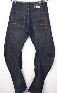 G-Star Brut Hommes Arc Conique Ample Jeans Jambe Droite Taille W31 L34 BCZ228