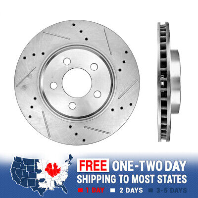 """Front+Rear Drilled Rotors /& Pads for 2005-2008 Magnum 3.5L RWD 17/""""Rim, R-Solid"""