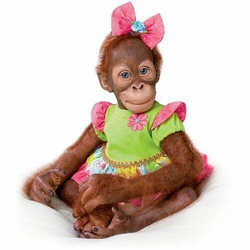Mollie the Orangutan Realistic Toddler Doll by Ashton Drake  New