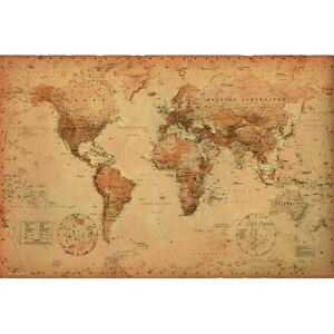 image is loading new educational children 039 s world map antique