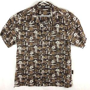 VANS-Triple-Crown-Of-Surfing-Size-L-80-039-s-Hawaiian-Shirt-Vintage-Surfer-Hula-Girl