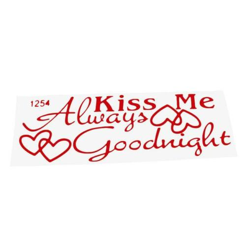 Always Kiss Me Goodnight Quote Removable Wall Sticker Decal Decor Sticker LE