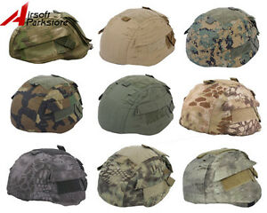 Tactical-Military-Airsoft-Hunting-Camo-Helmet-Cover-for-MICH-TC-2002-ACH-Helmet