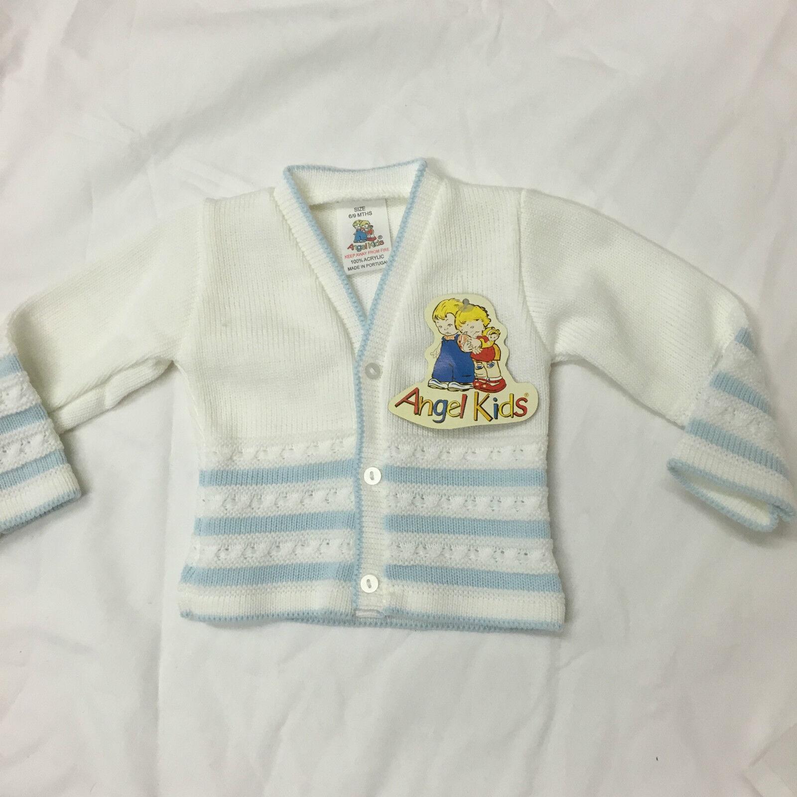 Baby babies boy boys cardi cardis cardigan cardigans blue white clothing