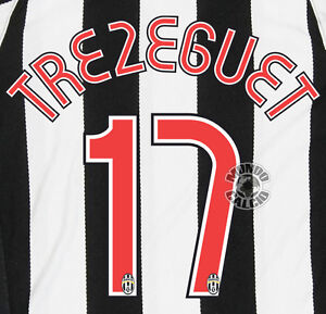 best loved 70d13 bc4cb Details about TREZEGUET CUSTOMIZING JUVENTUS HOME NOME E SIZE KIT SET NAME  07-08