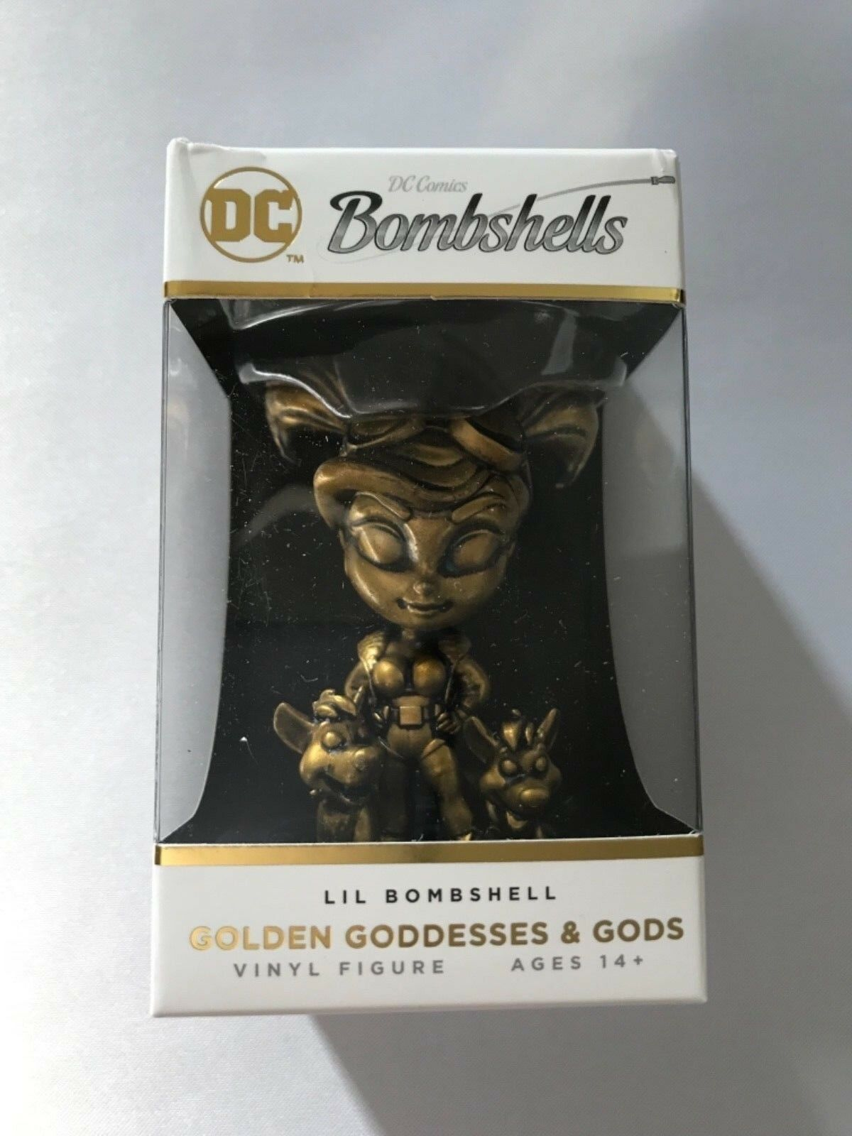 Dc comics bombshells 2, harley quinn bronze lil bomshells vinyl - figur