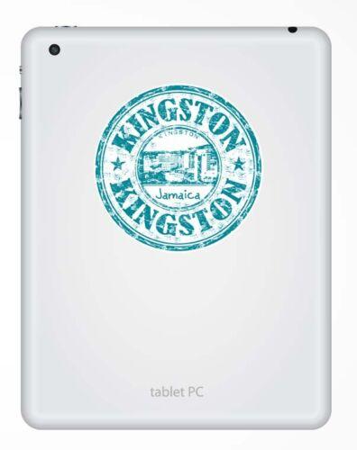 2 X 10 Cm Kingston Jamaica pegatina de vinilo calcomanía Laptop Equipaje De Viaje etiqueta # 9303