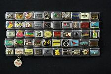Italian Charms 50 assorted Stainless Steel Wholesale Lot 9mm (C50-44)