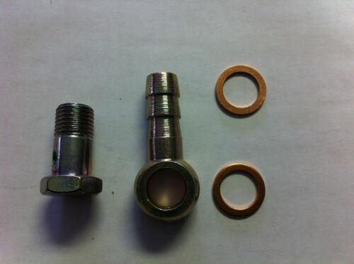 """Line ID 12mm 7//16/"""" Banjo and bolt  washers,14 X 1.5 Thread Head 19mm eye union"""