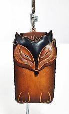 Genuine Leather Fox XL Cell Phone  Case For iPhone 6 - Hand Tooled