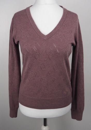 Scollo a leggera Maglieria Uk Purple Perry V Maglia 14 maglione Mink Fred Knit qaZwtICBt