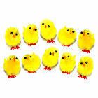 Mini Yellow Fluffy Plush Easter Chenille Chicks - Easter Bonnet Decoration