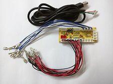 Exiron 1PCS Zero Delay Arcade USB Encoder PC to joystick for MAME /& Fight Stick Control