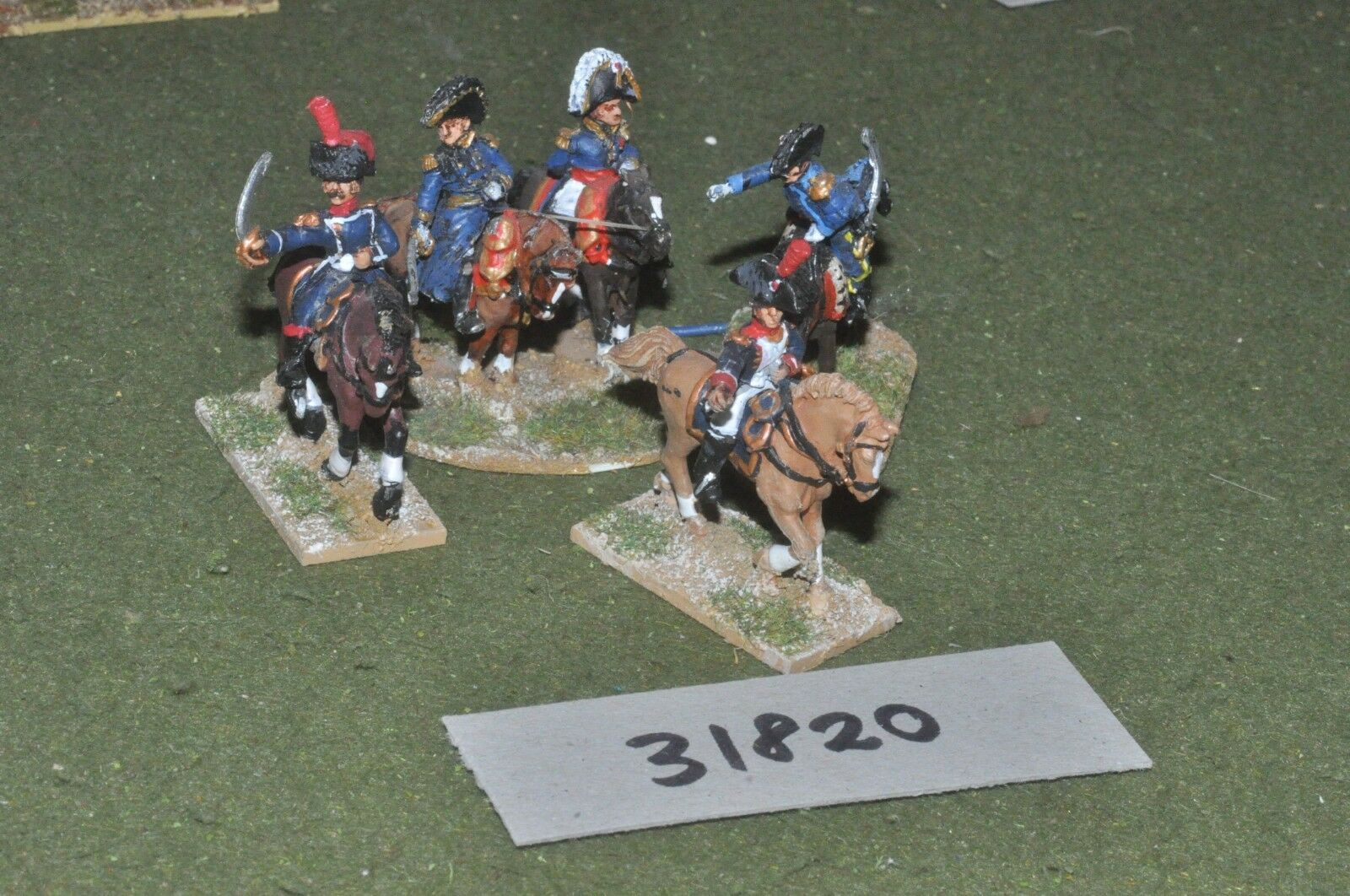 25mm napoleonic   french - generals 5 figures - command (31820)