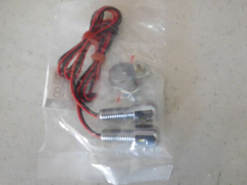 12 VOLT L.E.D LICENSE PLATE MOUNTING bolts HARDWARE KIT FOR ALL motorcycles