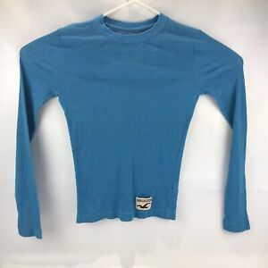 Hollister-Mens-Long-Sleeve-Shirt-Size-Small-Blue-Free-Shipping