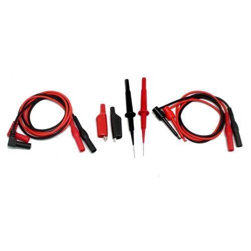 Needle tip test lead mini-hooks alligator clips PVC extensions TLP20155