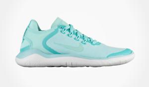 Women/'s NIKE Free Run 2018 Running Sneakers ISLAND GREEN COLOR