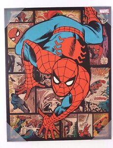 Marvel-Comics-Ultimate-Spider-Man-Canvas-Print-Wall-Art-Home-Decor-20-034-x-16-034-NEW