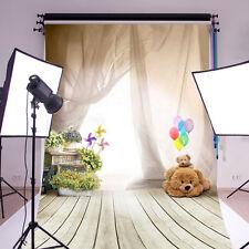 3x5FT Vinyl Studio Photography Ballon Bear Floor Backdrop Kids Camera Background
