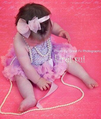 Newborn Baby Infant Girls Lavender Light Pink Pettiskirt Tutu Photo Prop NB-6M