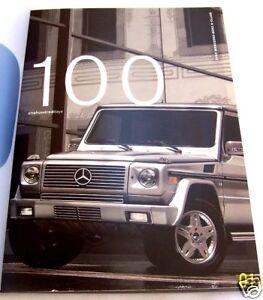 2003 Mercedes Benz G500 G55 AMG Sales Brochure Book