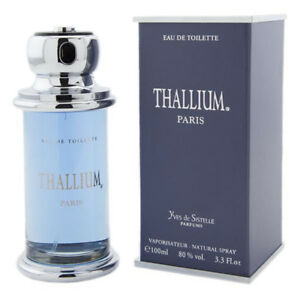 THALLIUM by YVES DE SISTELLE Men Cologne 3.3 oz edt 3.4 New in Box