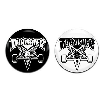 2x Iron Maiden Band Rock Heavy Metal 25mm 1 Inch D Pin Button Badges